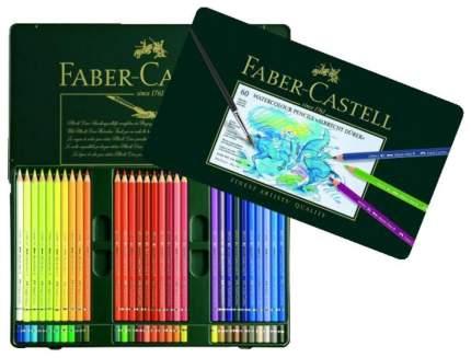 Акварельные карандаши Faber-Castell ALBRECHT DÜRER в металлической коробке, 60 шт