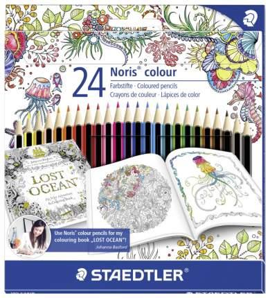 Карандаши цветные Staedtler Noris Colour Johanna Basford 24 цвета