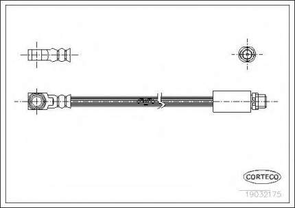 Шланг тормозной Corteco 19032175