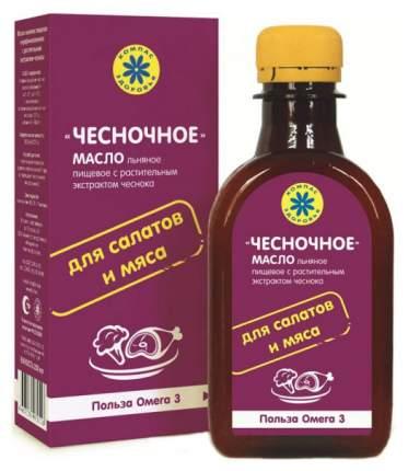Масло льняное Компас Здоровья чесночное с экстрактом чеснока 200 мл