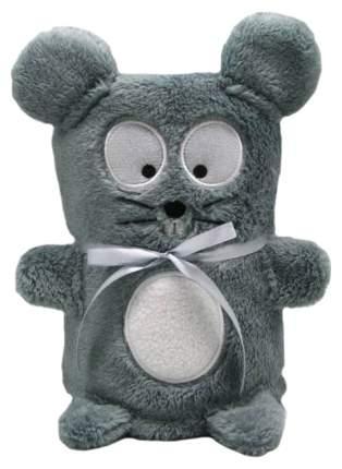 Мягкая игрушка-плед Город Игр Серый Мышонок 60 x 90 см