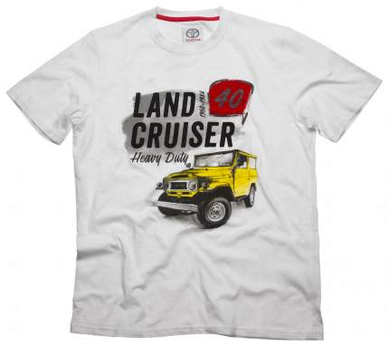 Футболка мужская Toyota Land Cruiser 40 TMHRTTCM03S White