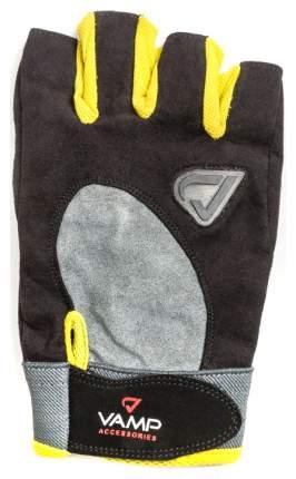 Перчатки для тяжелой атлетики и фитнеса VAMP RE-02, желтые, XS