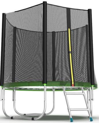 Батут Evo Fitness Jump External с сеткой и лестницей 244 см, green