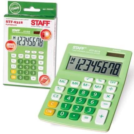 Калькулятор настольный STF-8318 зеленый