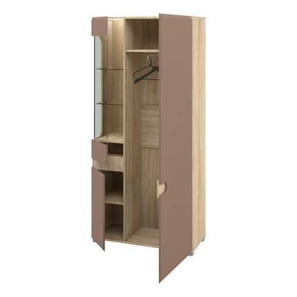Платяной шкаф Мебель-Неман Леонардо NEM_MN-026-19_light_brown 90x42x193, дуб сонома