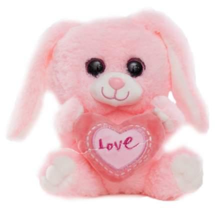 Мягкая игрушка Sima-Land Зайчик с сердцем 4462326 Розовый