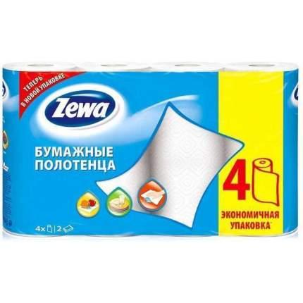 Бумажные полотенца Zewa двухслойные 23*25 см 4 штуки