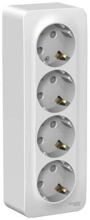 Розетка 4-модульная ОП Blanca, 16А, защитные шторки, с заземлением, изолируемая пластина