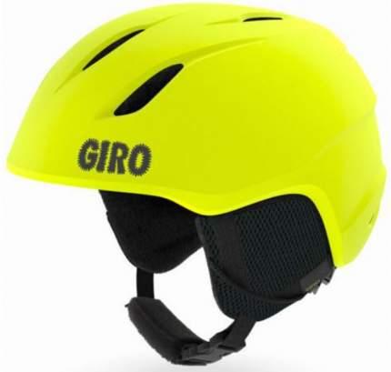 Горнолыжный шлем детский Giro Launch 2019, желтый, XS