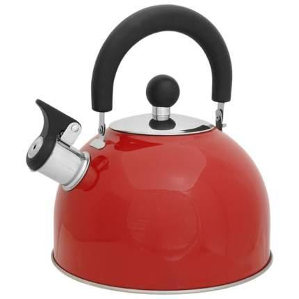 Чайник для плиты MALLONY MAL-039-R, нержавеющая сталь,  красный