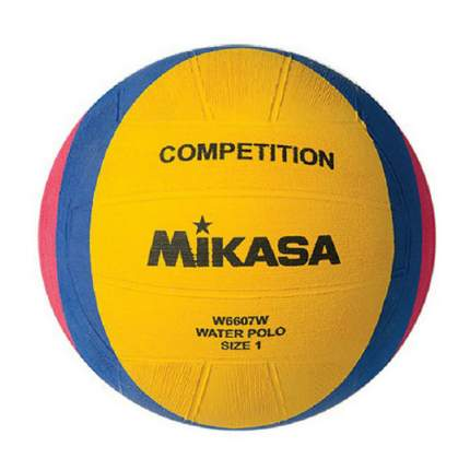 Мяч для водного поло Mikasa W6607W детский 1, желтый/розовый/синий
