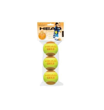 Мяч теннисный Head T.I.P Orange Для детей 3 шт. , желтый/оранжевый