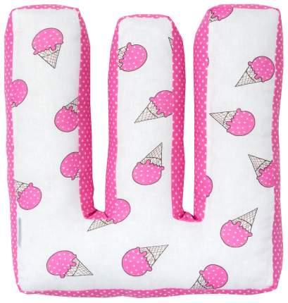 Подушка Крошка Я буква Ш 35х22 см, розовый
