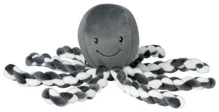 Игрушка мягкая Nattou Soft toy (Наттоу) Lapidou Octopus Осьминог anthracite-white 878739