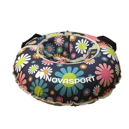 Тюбинг NovaSport 110 см с камерой в сумке CH031.110.4.1 цветы на синем фоне