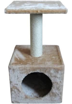 Домик для кошек Pet Choice с когтеточкой, бежевый, 30x30x57 см