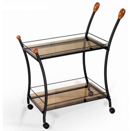 Стол сервировочный Поло черный/ тонированное