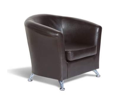Кресло Евро экокожа коричневый