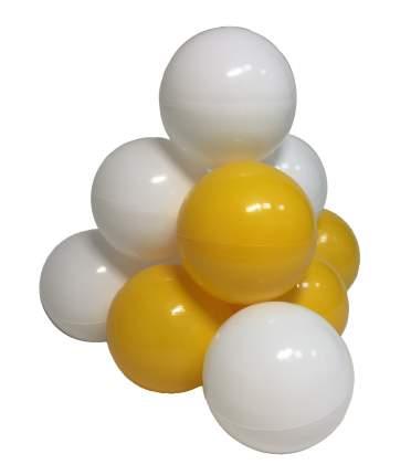 Комплект шариков Мыльные пузыри (50шт: желт и бел) для сухого бассейна
