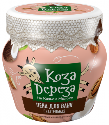Пена для ванн Коза Дереза Питательная 175 мл
