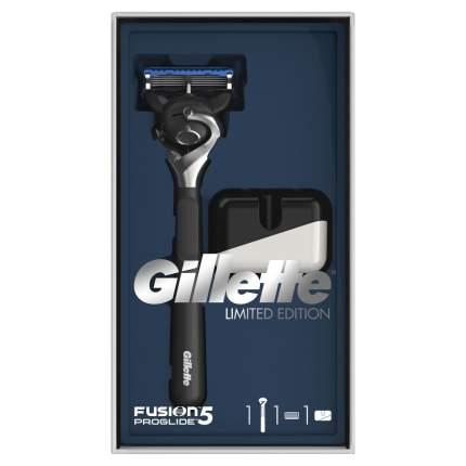 Подарочный набор Gillette Fusion5 ProGlide Бритва с 1 сменной кассетой + Подставка