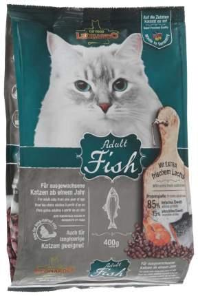 Сухой корм для кошек Leonardo Adult Fish, океаническая рыба и рис, 0,4кг