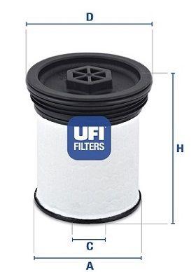 Фильтр топливный UFI 26.019.01
