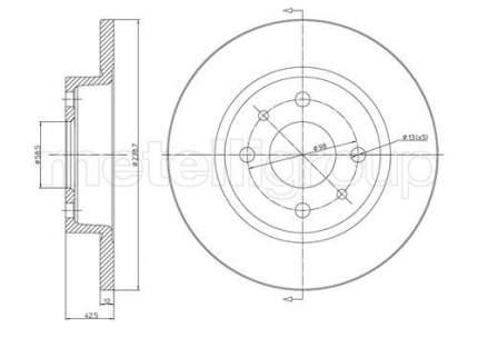 Тормозной диск METELLI 23-0205