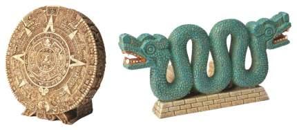 Декорация для аквариума Hydor Древний календарь и Двухголовая змея, 16,1х14х14 см