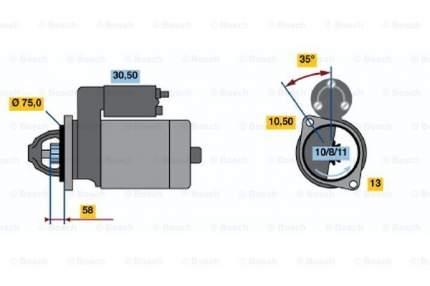 Стартер Bosch 0 986 020 691