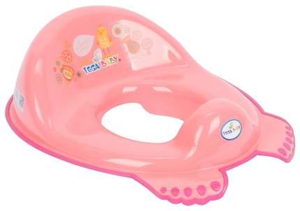 Накладка на унитаз Tega Baby Фолк антискользящая розовая