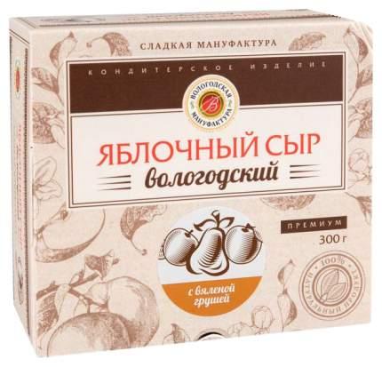 Яблочный сыр Вологодская мануфактура с вяленой грушей 300 г
