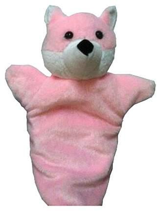 Игрушка на руку Дельфин Лисичка, розовая