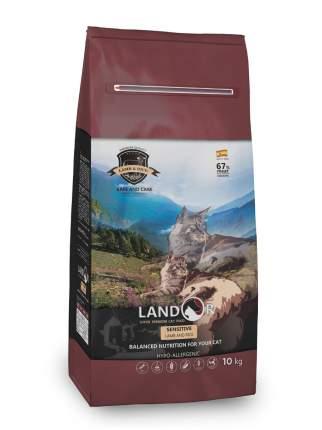 Сухой корм для кошек Landor Sensitive, ягненок, 10кг