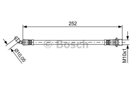 Шланг тормозной системы Bosch 1 987 481 662