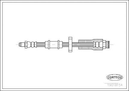 Шланг тормозной системы CORTECO 19018154