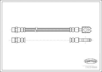 Шланг тормозной CORTECO 19034686