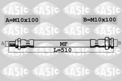 Шланг тормозной SASIC 6600049