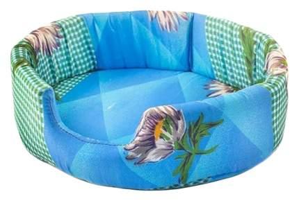 Лежак для животных Дарэлл Еco овальный микрофибра с рисунком 45х38х13 см