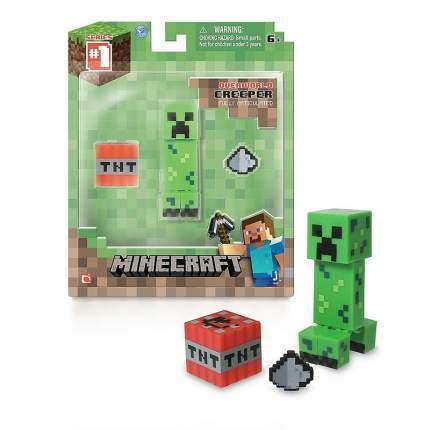 Фигурка Minecraft Creeper Крипер с аксессуарами пластик 8 см