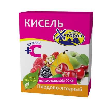 Кисель Бабушкин Хуторок плодово-ягодный концентрат сухой с витамином С 180 г