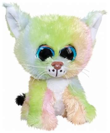 Мягкая игрушка Tactic Рысёнок Aurora, зелено-розовый, 15 см
