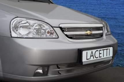 Декоративные элементы решетки радиатора Souz-96 для Chevrolet Lacetti от 2004, 2 шт