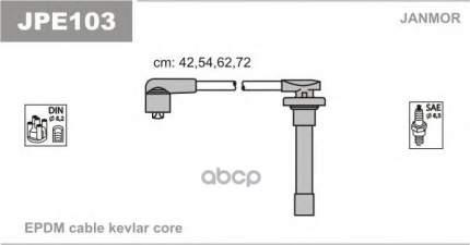 Комплект проводов зажигания JANMOR JPE103