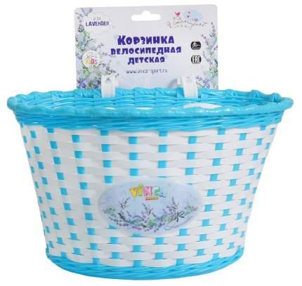 Корзина велосипедная Vinca Sport P 04 бело-голубая