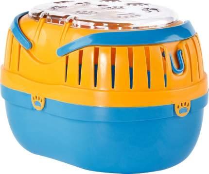 Переноска для грызунов Fauna International синий, оранжевый пластик 35x25x25 cм