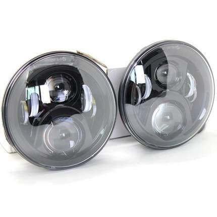Комплект штатных светодиодных фар головного света 70 ватт 7 дюймов с ДХО 7D2D-70W