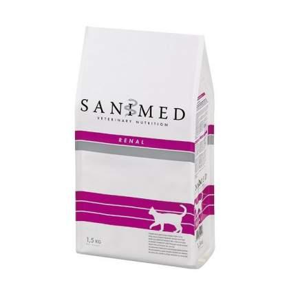 Сухой корм для кошек SANIMED Renal, при почечной недостаточности, рыба, 1,5кг