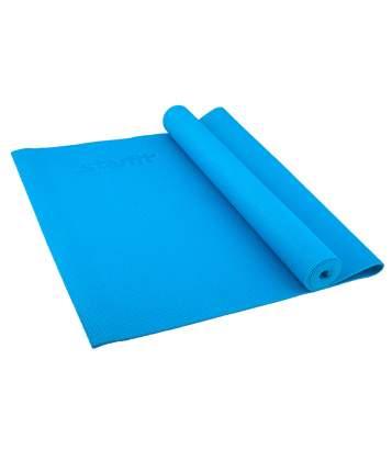 Коврик для йоги FM-101, PVC, 173x61x0,8 см, синий